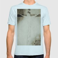 Touched by grace Mens Fitted Tee Light Blue SMALL