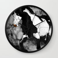 Black & White Horse Wall Clock