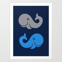 The Elephant & The Whale Art Print