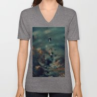 Unisex V-Neck featuring WATER DROPS by PIMPINELLA ART