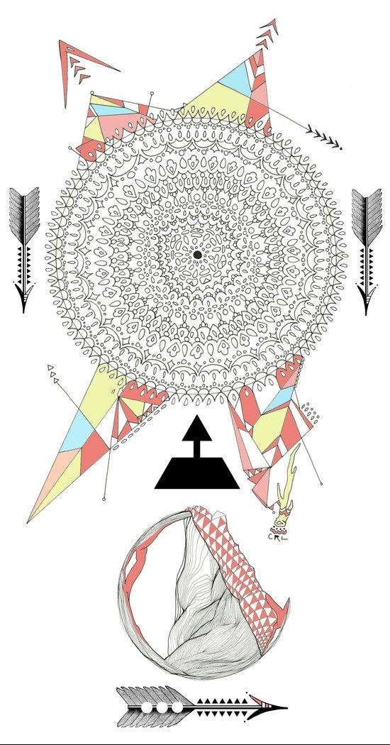 arrow & old lace Art Print