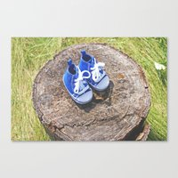 Welcome Baby Boy Canvas Print
