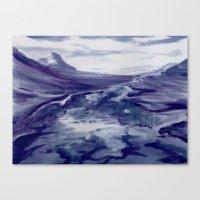Icelandic Landscape (Blueberry/Bláber Painting)  Canvas Print