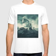 The Night's Watch Mens Fitted Tee SMALL White