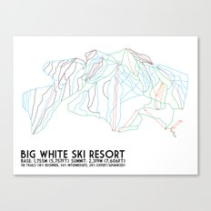Big White, BC, Canada - Minimalist Trail Art Canvas Print