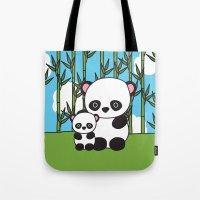 Panda Sweetness Tote Bag