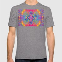 Flower Trip-Sir Parker Mens Fitted Tee Tri-Grey SMALL