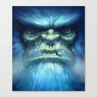 Abominable Snowman Canvas Print
