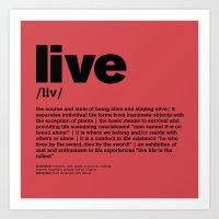 Definition LLL - Live 4 Art Print