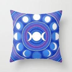 Moon Cycle Mandala Throw Pillow
