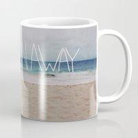 Let's Run Away   Sandy Beach, Hawaii Mug