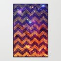 Sparkling Chevron - for iphone Canvas Print