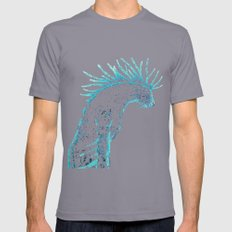Deer god Mens Fitted Tee Slate SMALL