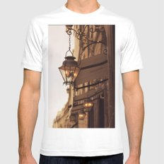 Paris Street Mens Fitted Tee White SMALL