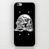 Skull Flower Art Print iPhone & iPod Skin