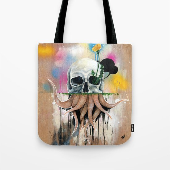 Skull Roots Tote Bag