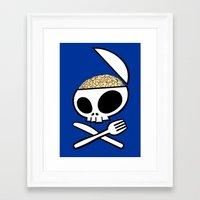 Zombie nation meal time Framed Art Print