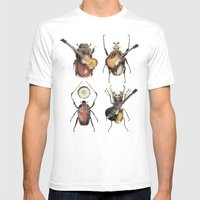 Meet the Beetles Mens Fitted Tee White SMALL