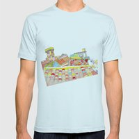 shix_2 Mens Fitted Tee Light Blue SMALL