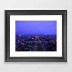 Paris At Dusk Framed Art Print