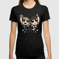 An Unstoppable Team  Womens Fitted Tee Tri-Black SMALL