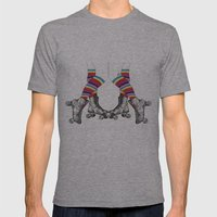 Let's Roll Mens Fitted Tee Athletic Grey SMALL