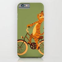 iPhone & iPod Case featuring Tiger on the bike by Tatiana Obukhovich