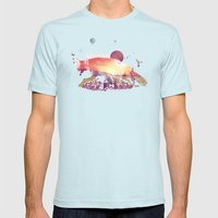 Woodlands Fox Mens Fitted Tee Light Blue SMALL