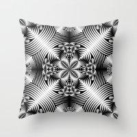 Geometric Damask Throw Pillow