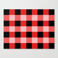 Red squares Canvas Print