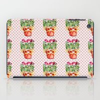 Polka Dots and Pots of Dried Roses iPad Case