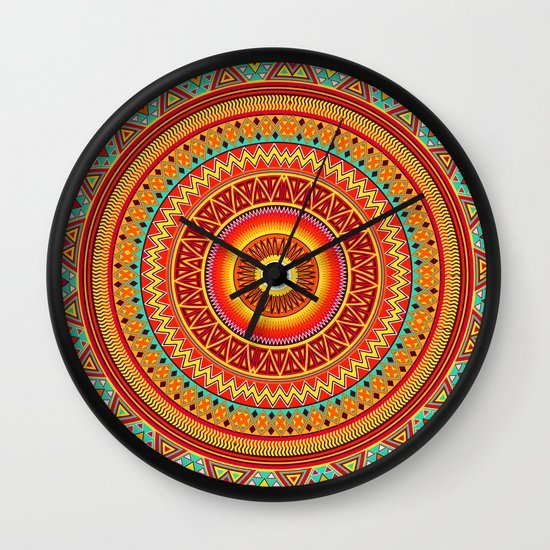 Mandala Aztec Pattern Wall Clock
