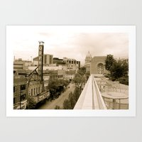 Above State Street - Madison, Wisconsin Art Print