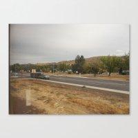 on the road heading toward  Canvas Print