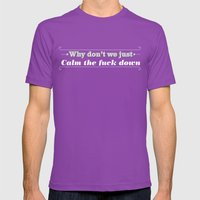 Why Don't We? Mens Fitted Tee Ultraviolet SMALL