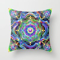 Mandala Psychedelic Art … Throw Pillow
