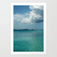 Caribbean Sea View Art Print