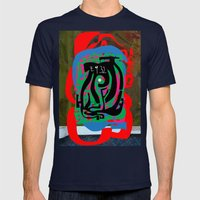 Hearts and Minds Are Not Straight Lines Never Let The Mind Go Asinine  Mens Fitted Tee Navy SMALL