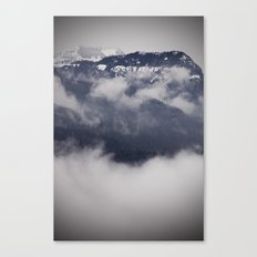 Cold Columbia Gorge Morning Staring Into Washington's Mountains Canvas Print