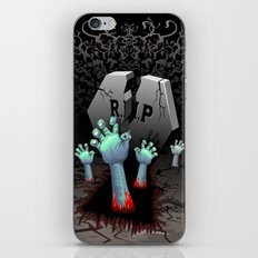 Zombie Hands on Cemetery iPhone & iPod Skin