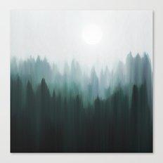 Autumn Fog | Green Edition Canvas Print