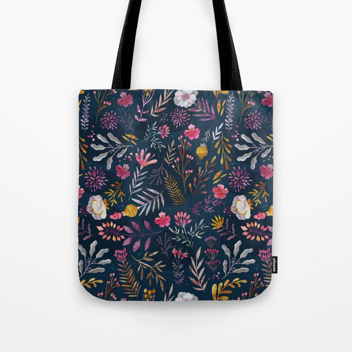 floral tote bag by oilikki society6