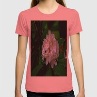 Rhododendron Bloom At Fa… Womens Fitted Tee Pomegranate SMALL