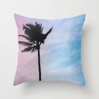 Single Palm Throw Pillow