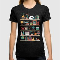 The Shelf Womens Fitted Tee Tri-Black SMALL