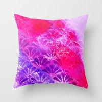 Pinky Purple Fanning Throw Pillow