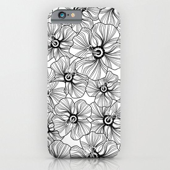 My garden. black and white.  iPhone & iPod Case