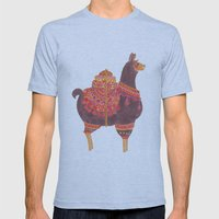 The Lovely Llama Mens Fitted Tee Athletic Blue SMALL
