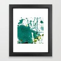 emerald green splash Framed Art Print