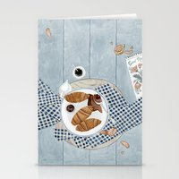 Croissants With Cherry Jam Stationery Cards